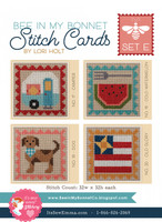 It's Sew Emma -  Stitch Cards - Set of 4 (Set E)