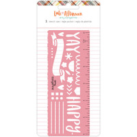 American Crafts - Amy Tangerine - Late Afternoon Metal Stencil Ruler
