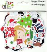 Carpe Diem - Simple Stories - Say Cheese Christmas - Happy Kids Bits & Pieces Die-Cuts