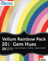 Paper Accents - Vellum - Rainbow Variety Pack - Gem Hues