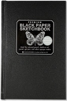 Peter Pauper Press - Premium Black Paper Sketchbook (Blank)