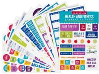 Peter Pauper Press - Essentials Health & Fitness Planner Stickers