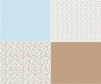 Riley Blake Fabric - Sew Cherry 2 - Lori Holt - Fat Quarter Panel - Aqua