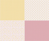 Riley Blake Fabric - Sew Cherry 2 - Lori Holt - Fat Quarter Panel - Yellow