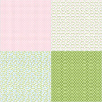 Riley Blake Fabric - Sew Cherry 2 - Lori Holt - Fat Quarter Panel - Pink
