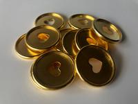 Plastic Planner Discs - Medium - Gold - Set of 11