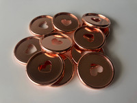 Plastic Planner Discs - Medium - Rose Gold - Set of 11