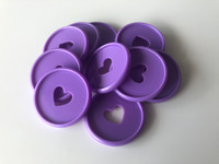 Plastic Planner Discs - Medium - Lavender - Set of 11