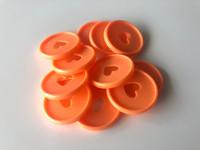 Plastic Planner Discs - Medium - Orange - Set of 11