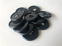 Plastic Planner Discs - Medium - Black - Set of 11