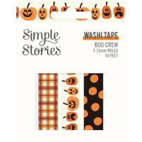 Carpe Diem - Simple Stories - Boo Crew Washi Tape - Set of 3