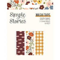 Carpe Diem - Simple Stories - Cozy Days Washi Tape - Set of 3