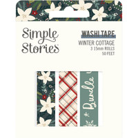 Carpe Diem - Simple Stories - Winter Cottage Washi Tape - Set of 3