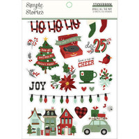 Carpe Diem - Simple Stories - A5 Sticker Book - Jingle All The Way