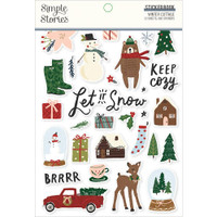 Carpe Diem - Simple Stories - A5 Sticker Book - Winter Cottage