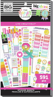 The Happy Planner - Me and My Big Ideas - Value Sticker Book - Live Creatively (#591)