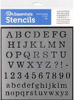Paper Accents - Bullet Journaling Stencils - Roman Alpha