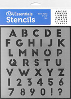 Paper Accents - Bullet Journaling Stencils - Block Alpha