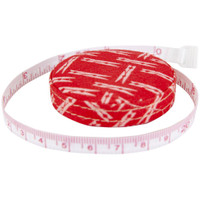 Riley Blake Designs - Lori Holt of Bee in my Bonnet - Tape Measure - Vintage Happy 2 - Cayenne