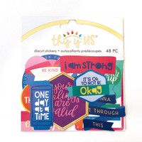 Paper House - Diecut Stickers - This is Us - Bright Self Care