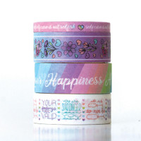Paper House - Washi Tape - This Is Us - Pastel Self Care