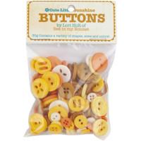 Riley Blake Designs - Lori Holt of Bee in my Bonnet - Cute Little Buttons - Sunshine