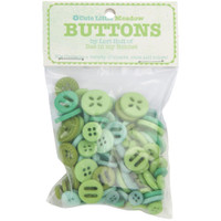 Riley Blake Designs - Lori Holt of Bee in my Bonnet - Cute Little Buttons - Meadow
