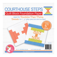 "It's Sew Emma - Quilt Block Foundation Paper - 6"" Courthouse Steps"