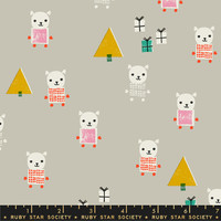 Moda Fabric - Ruby Star Society - Flurry Meowy Christmas Wool #RS5030 11