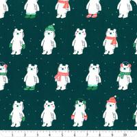 Moda Fabric - Ruby Star Society - Flurry Peacock Snow Bears #RS5028 13