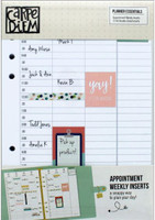 Carpe Diem - Planner Essentials A5 Inserts - Appointment Weekly (Hourly)