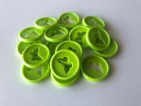 Plastic Planner Discs - Small - Lime Green - Butterfly - Set of 11