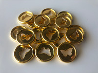 Plastic Planner Discs - Small - Gold - Butterfly - Set of 11