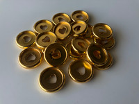 Plastic Planner Discs - Small - Gold - Set of 11