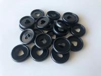Plastic Planner Discs - Small - Black - Set of 11
