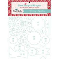 Riley Blake Designs - Lori Holt of Bee in my Bonnet - Granny's Garden Template Set