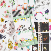 The Happy Planner - Me and My Big Ideas - Flower Power Mega Value Pack Stickers - 100 Sheets