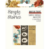 Carpe Diem - Simple Stories - Simple Vintage Ancestry Washi Tape - Set of 3