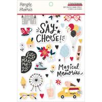 Carpe Diem - Simple Stories - A5 Sticker Book - Say Cheese Main Street