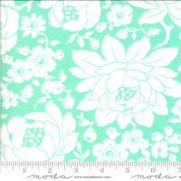 Moda Fabric - Shine On - Bonnie & Camille - Mums Aqua #55210 12