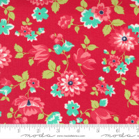 Moda Fabric - Shine On - Bonnie & Camille - Blossom Red #55211 11