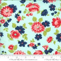 Moda Fabric - Shine On - Bonnie & Camille - Blossom Aqua #55211 13