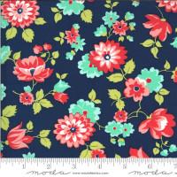 Moda Fabric - Shine On - Bonnie & Camille - Blossom Navy #55211 17