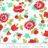 Moda Fabric - Shine On - Bonnie & Camille - Blossom White #55211 20