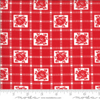 Moda Fabric - Shine On - Bonnie & Camille - Check Red #55212 11
