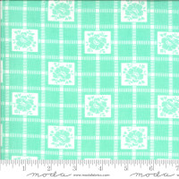 Moda Fabric - Shine On - Bonnie & Camille - Check Aqua #55212 12
