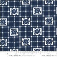 Moda Fabric - Shine On - Bonnie & Camille - Check Navy #55212 17