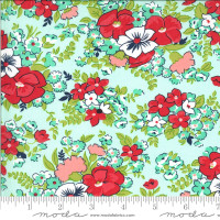 Moda Fabric - Shine On - Bonnie & Camille - Meadow Aqua #55213 13