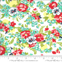 Moda Fabric - Shine On - Bonnie & Camille - Meadow White #55213 20