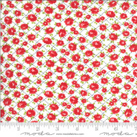 Moda Fabric - Shine On - Bonnie & Camille - Roses White #55214 20